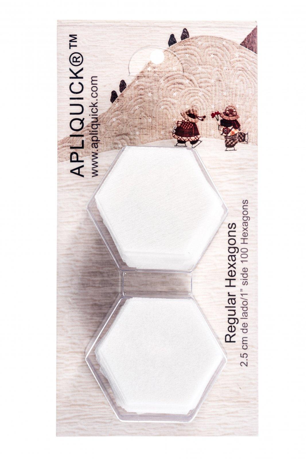 HX2 100 precut 2 CM Hexagons per package Apliquick