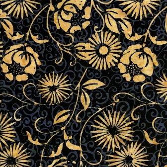 IS14K-AA1 Black w_Cream Floral Island Batik