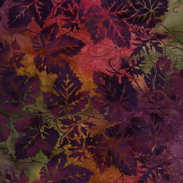 IS14T-F1-Sangria deep purple leaves Isl Batik