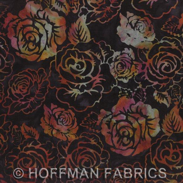 K2492-128-Midnight Hoffman Bali Chop - Rose