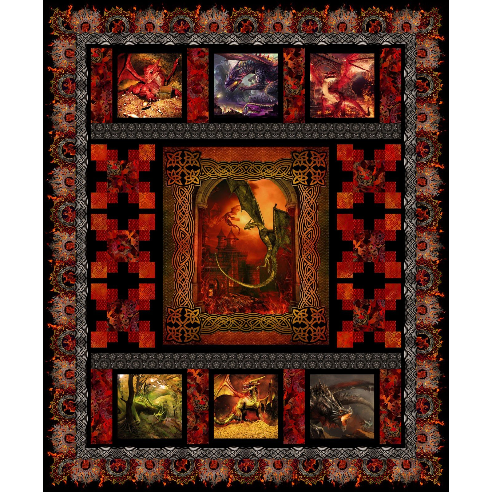 Red Dragon Quilt Kit Jason Yenter In The Beginning Fabrics