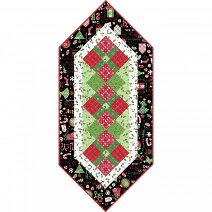 KIT-MASJAW-BLA Black Jingle All the Way Table Runner Kit
