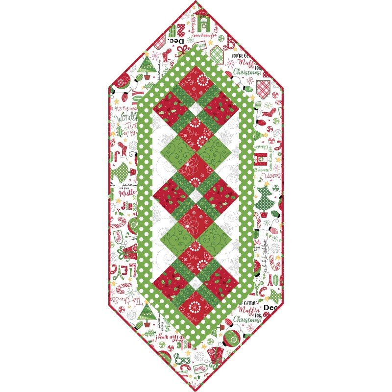KIT-MASJAW-WHI White Jingle All the Way Table Runner Kit