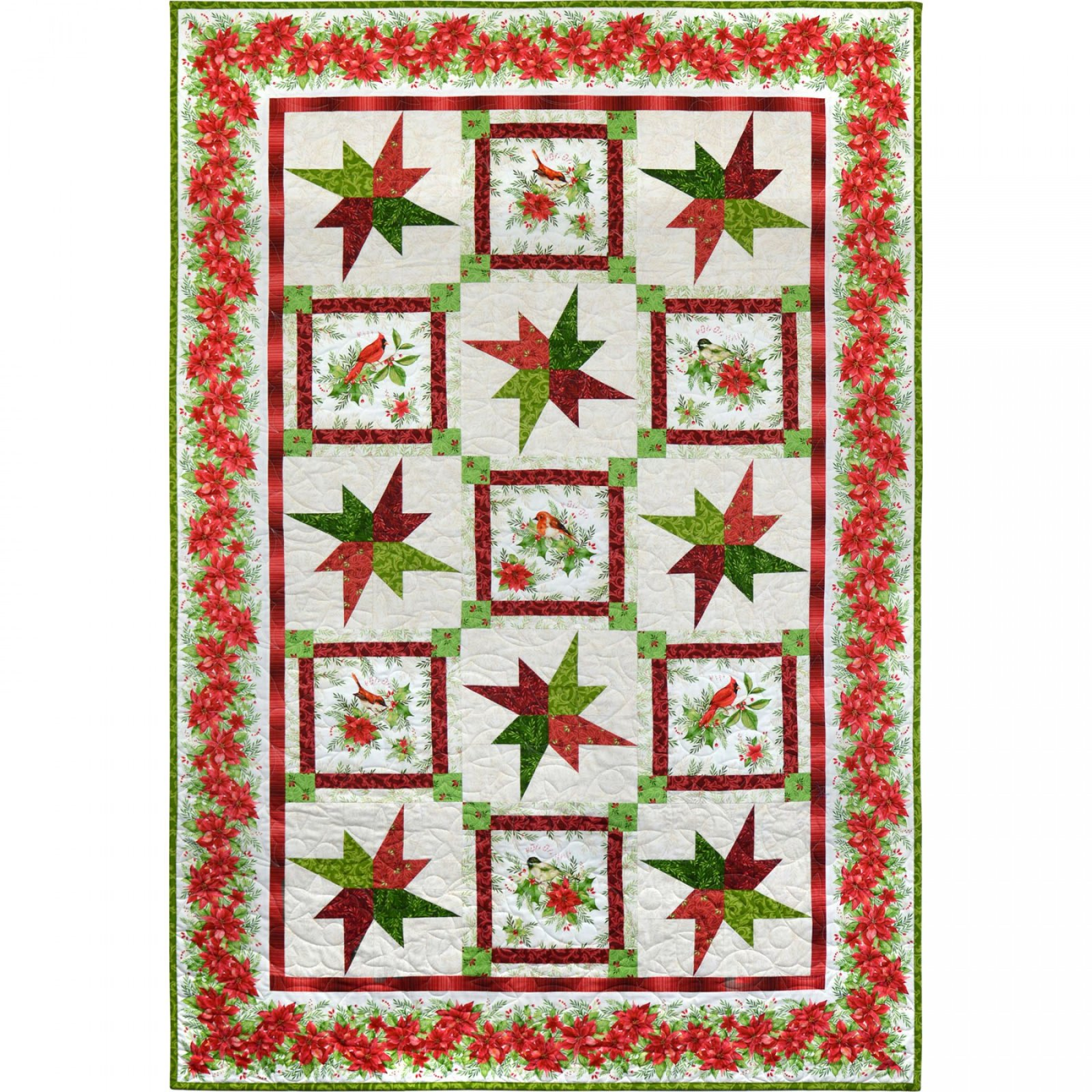 KIT_MASSOC Songbird Christmas Quilt Kit 51 X 73
