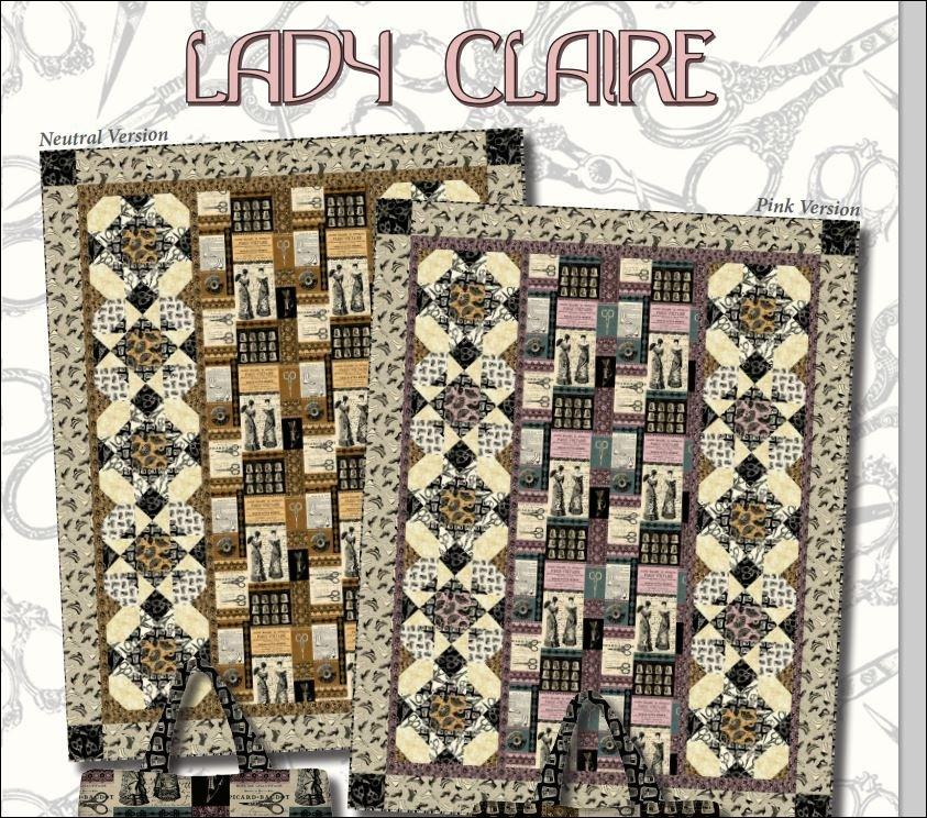 Lady Claire Neutral Quilt Kit 56 X 71