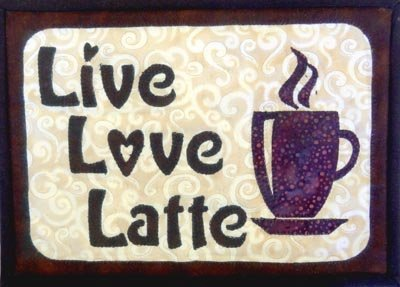 Live Love Latte Laser cut Mug Rug kit