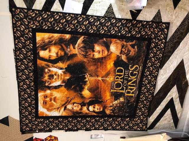 Lord of the Rings or Hobbit Panel Quilt