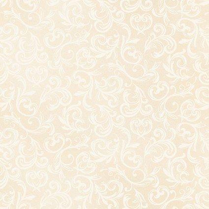 MAS114-E Antique Cream Scroll Pearl Essence Tone on Tone