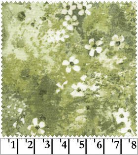 2.625 yds MAS1962-G small floral scattered texture on greens