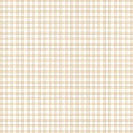 MAS610-WE1 Almond Gingham Checks Beautiful Basics Roam Sweet Home Maywood