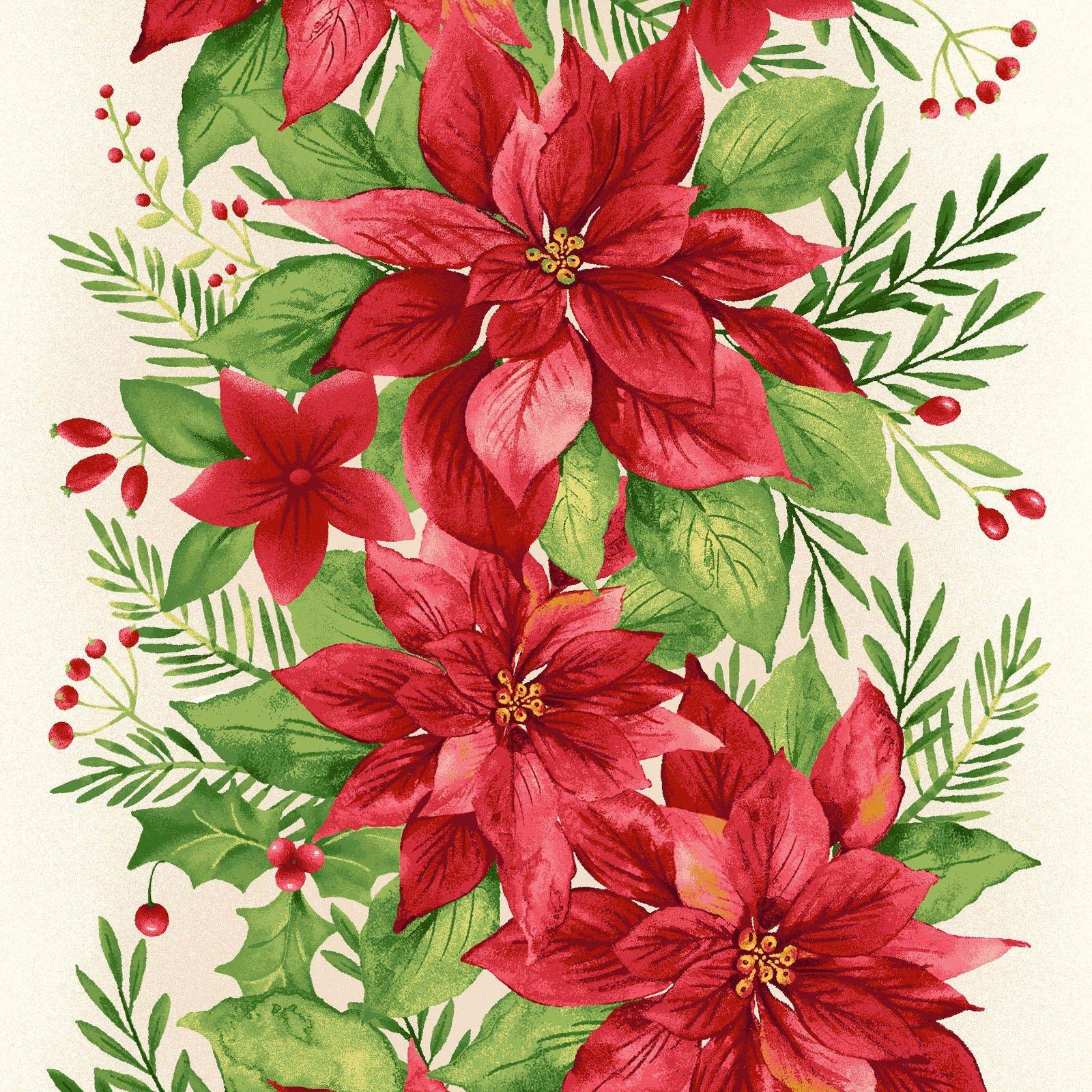 mas8132-E_2yds border stripe Songbird Christmas