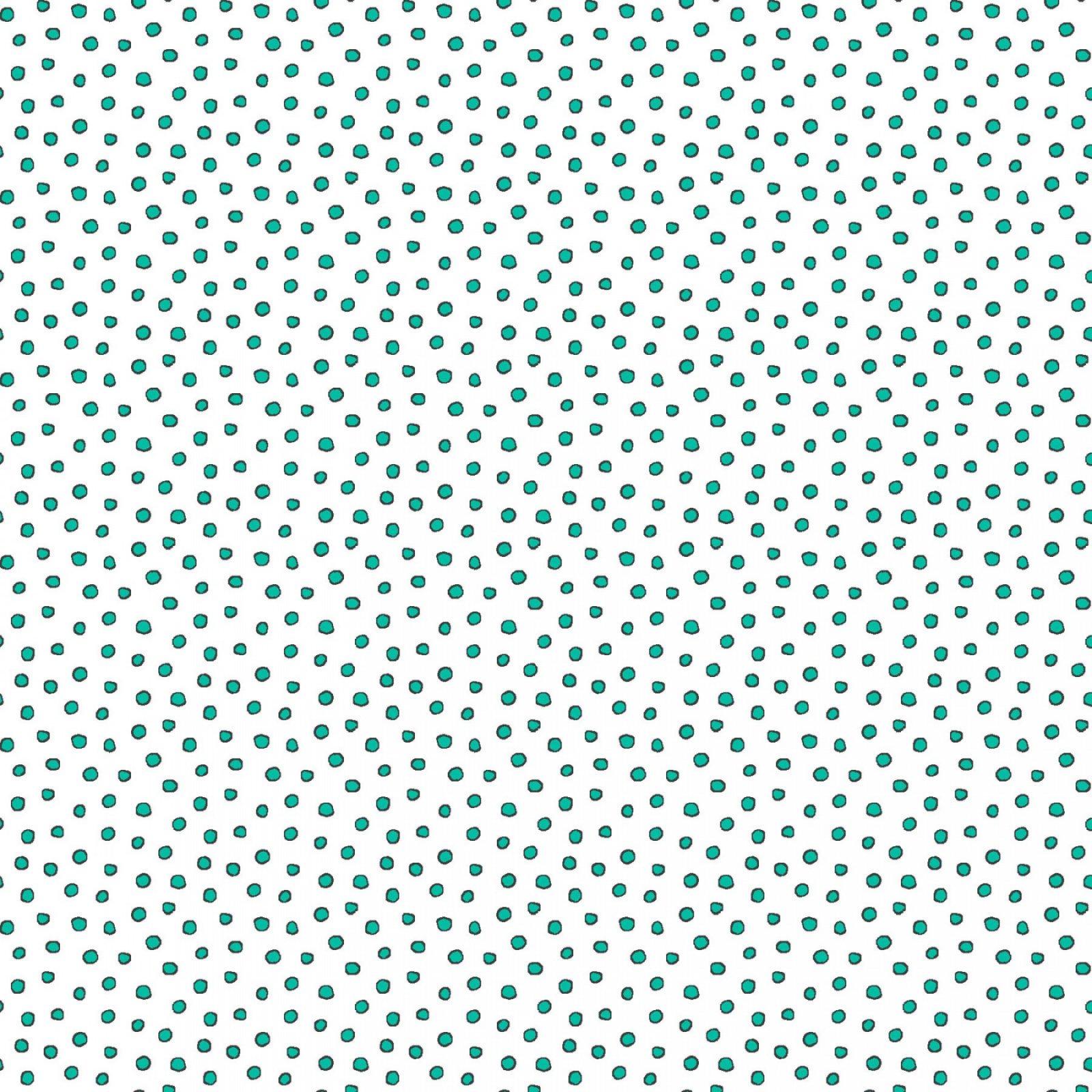 MAS8230-W White w_Green Tiny Dots Roam Sweet Home Maywood Studios