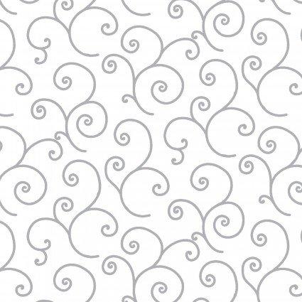 MAS8243-WK Gray Scroll on Wht KimberBell Basics