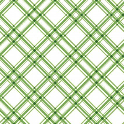 MAS8244-G Green Diagonal Plaid KimberBell Basics