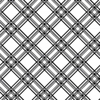 MAS8244-J BLk on Wht Diagonal Plaid KimberBell Basics