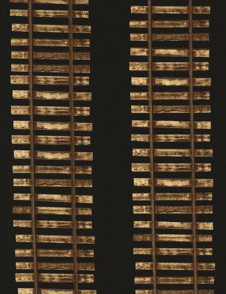 Michael-C5125-Black Train Tracks Timeless Treasures