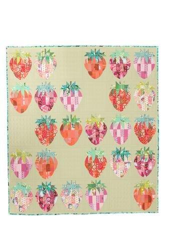 Mod Strawberries QCR Mini Ruler Sew Kind of Wonderful