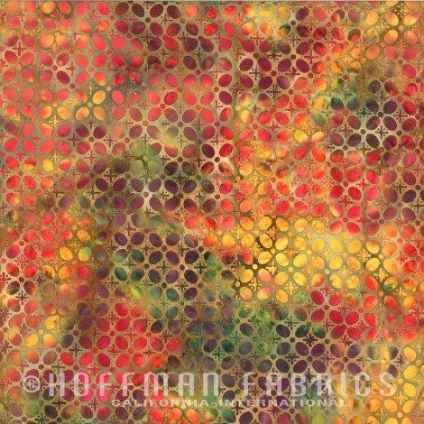N2841-186-Morocco-Multicolor Oval Blender Hoffman Bali Batik