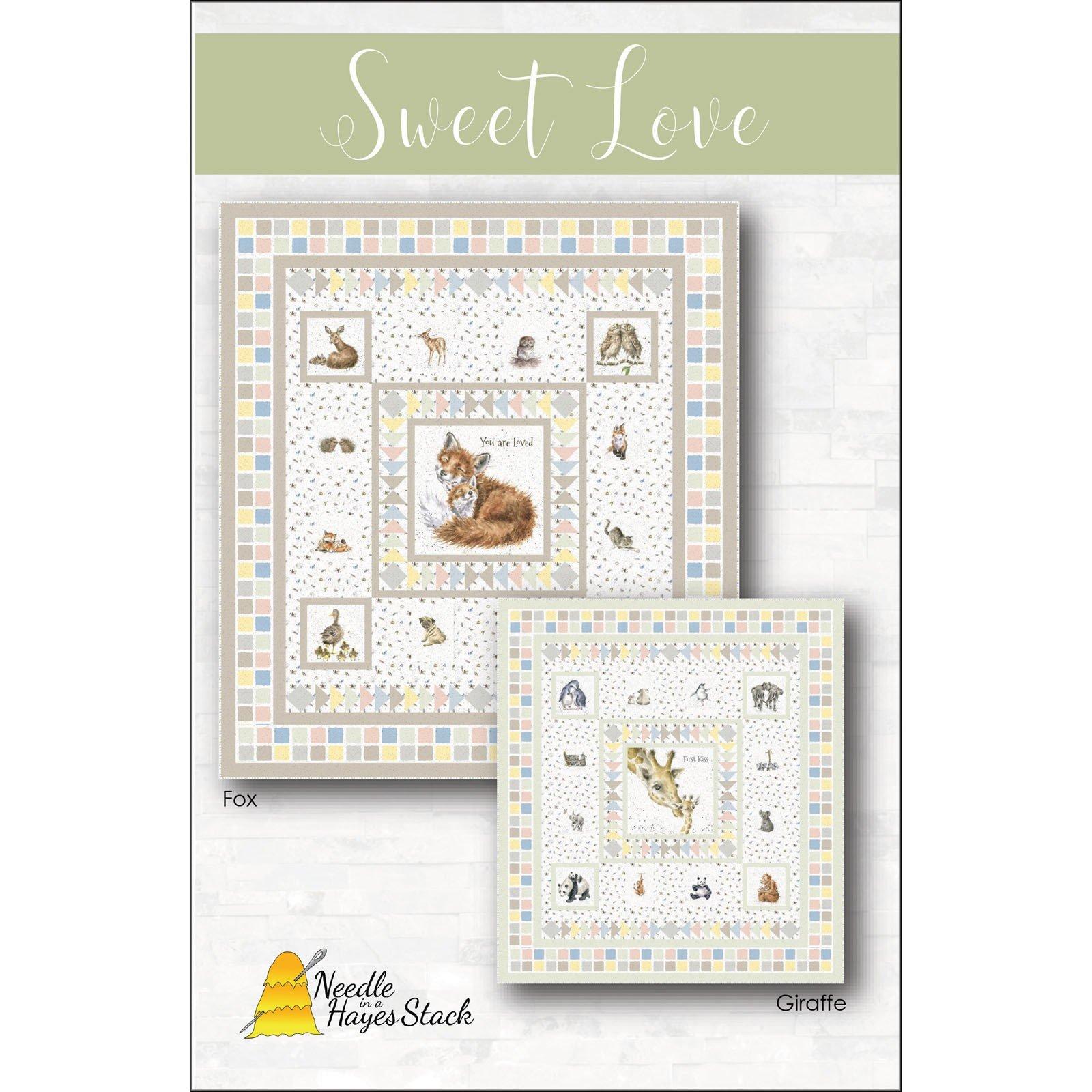 Giraffe Sweet Love 70 x 78 Love Is Quilt by Tiffany Hayes