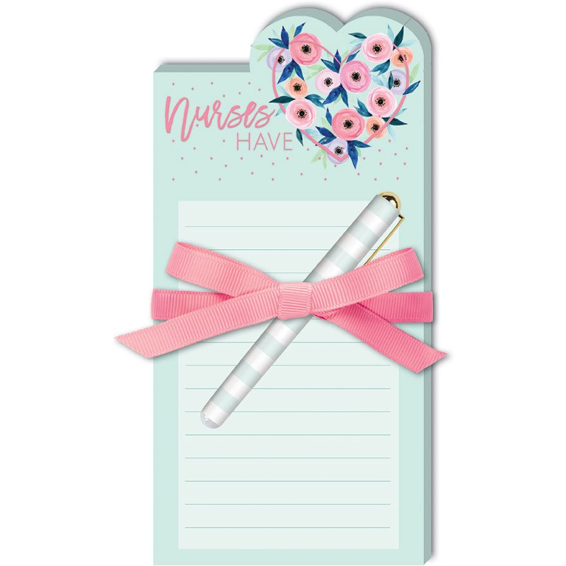 Diecut Notepad w/Pen Nurse Hart