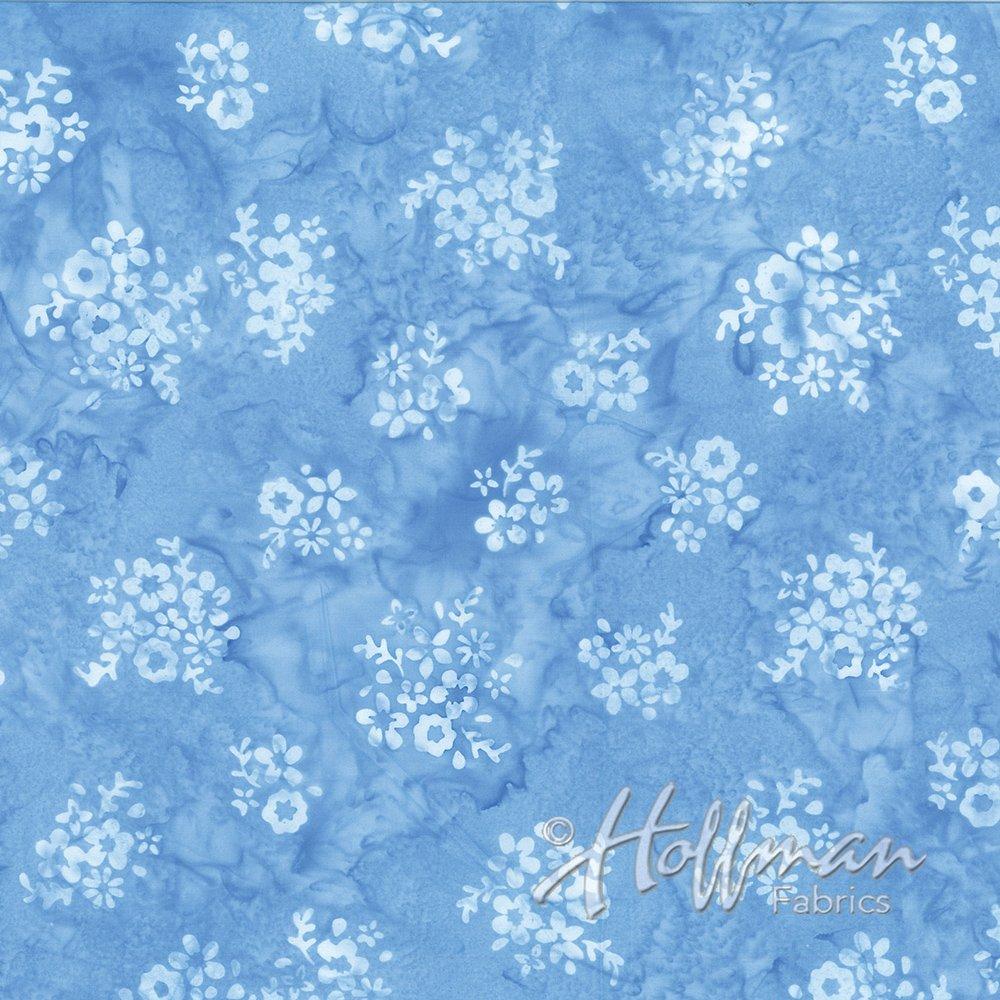 P2002-451-Cornflower Ditzy Flowers Bali Batiks Hoffman Fabrics