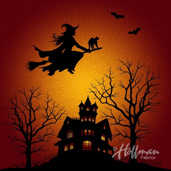 P4374-232-Citrine Halloween Scene Supernova Seasons