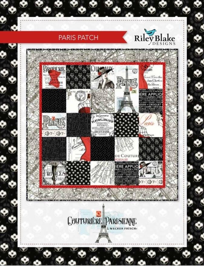 Paris Patch Quilt Kit featuring Couturiere Parisienne by J Wecker Frisch