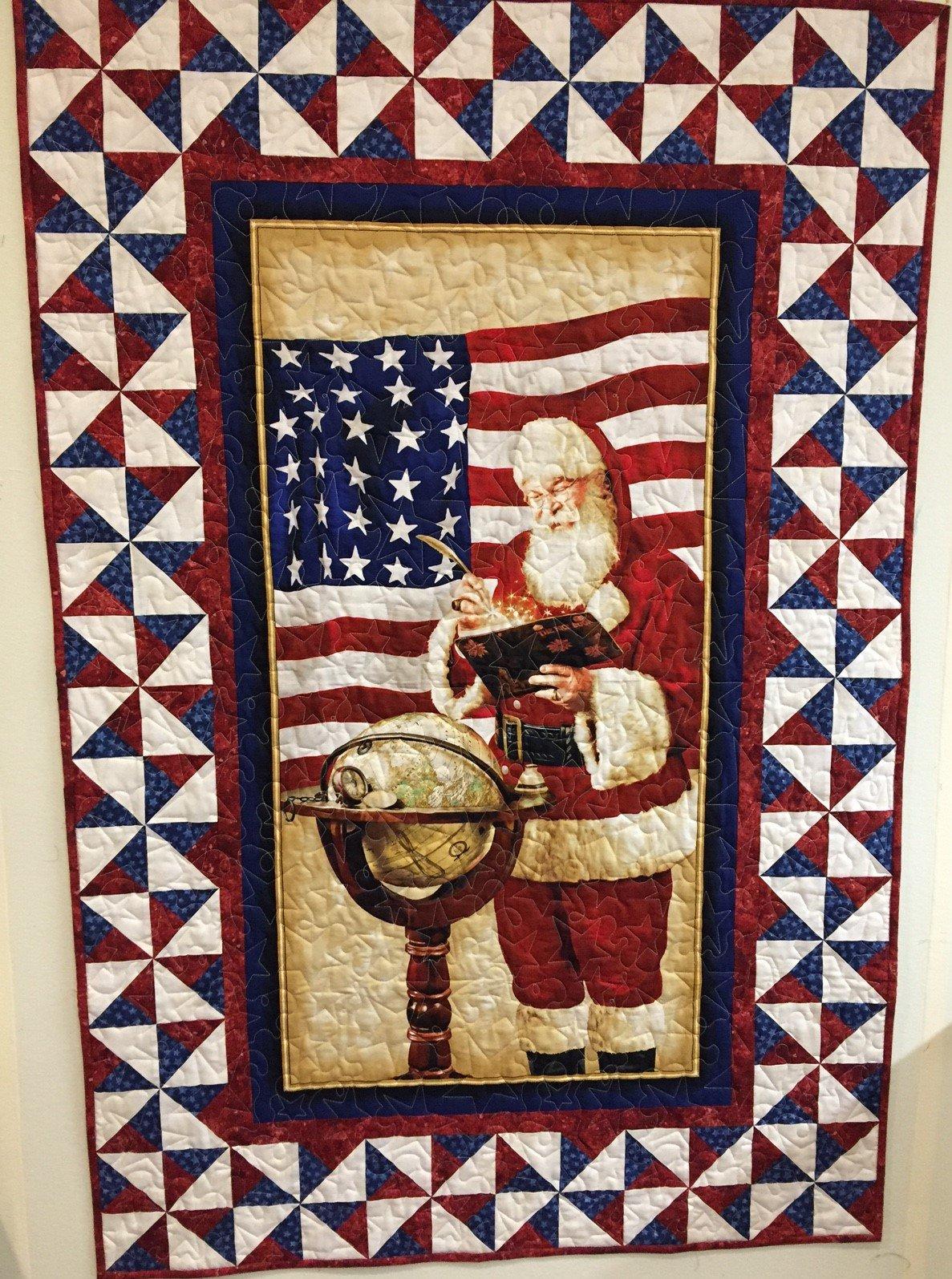 Patriotic Santa Quilt Pattern by Quilting Queen Online