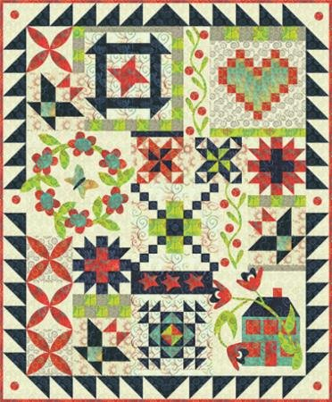 CBQ 179 Hometown Charm Print Fabric/Pattern Kit for Pat Sloan Sew Along!