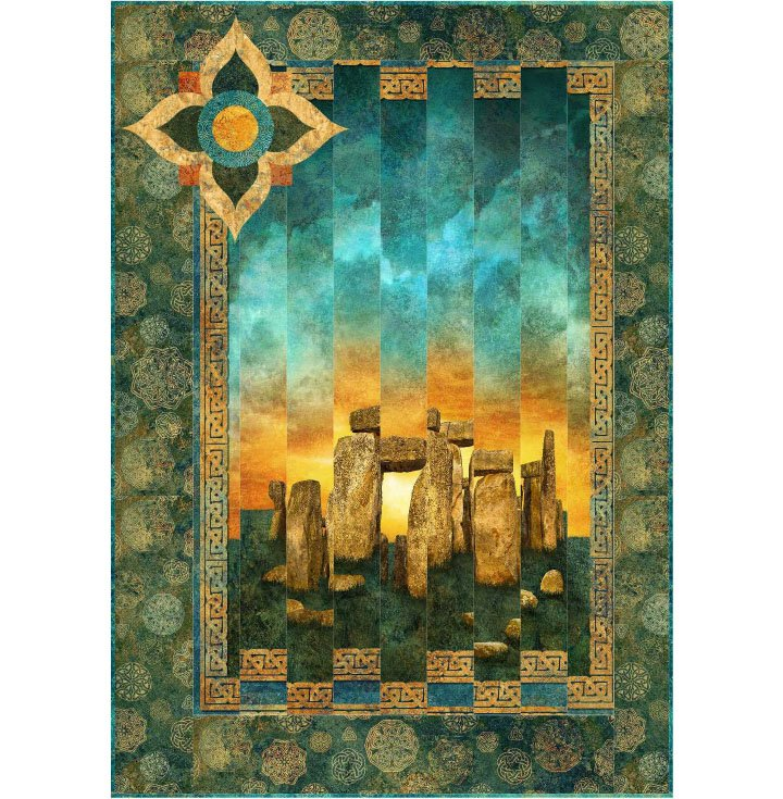 PTN2443 Summer Solstice by Morning Glory Designs featuring Stonehenge