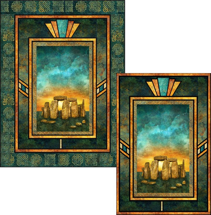 Art Glass Solstice Stonehenge 54 by 73 inch Quilt Kit