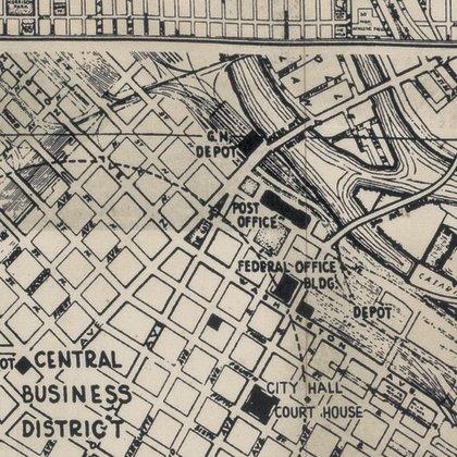 PWTH056.8BLAC-Street Maps Dapper Tim Holtz Free Spirit