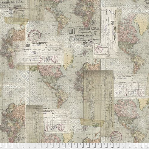 PWTH103 Multi World Map Eclectic Elements Tim Holtz