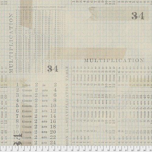 PWTH106 Aqua Multiplication Table Eclectic Elements Tim Holtz
