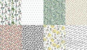Q4444-3-White-2 yds FQ No Weeds Here Digital Hoffman Fabrics