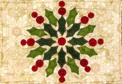Radiant Christmas Wreath Mug Rug Kit