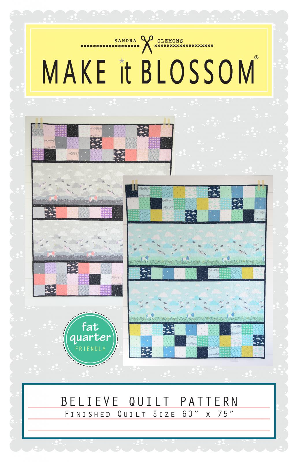 SC158 Believe Quilt Pattern by Sandra Clemons