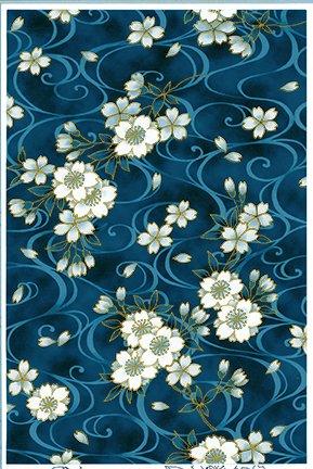 SOAR-03-INDIGO Soaring - Nobu Fujiyama Kona Bay Fabrics