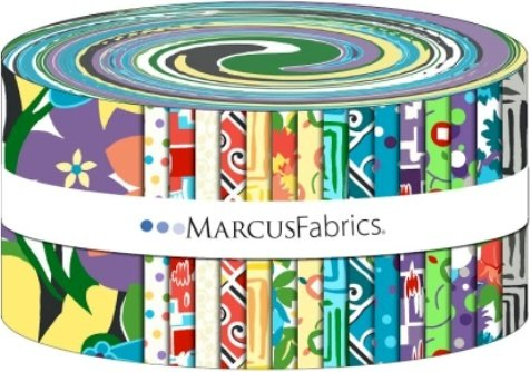 ST10-0006 Revved Up Retro 2.5 inch Strips SarahJ for Marcus Fabrics
