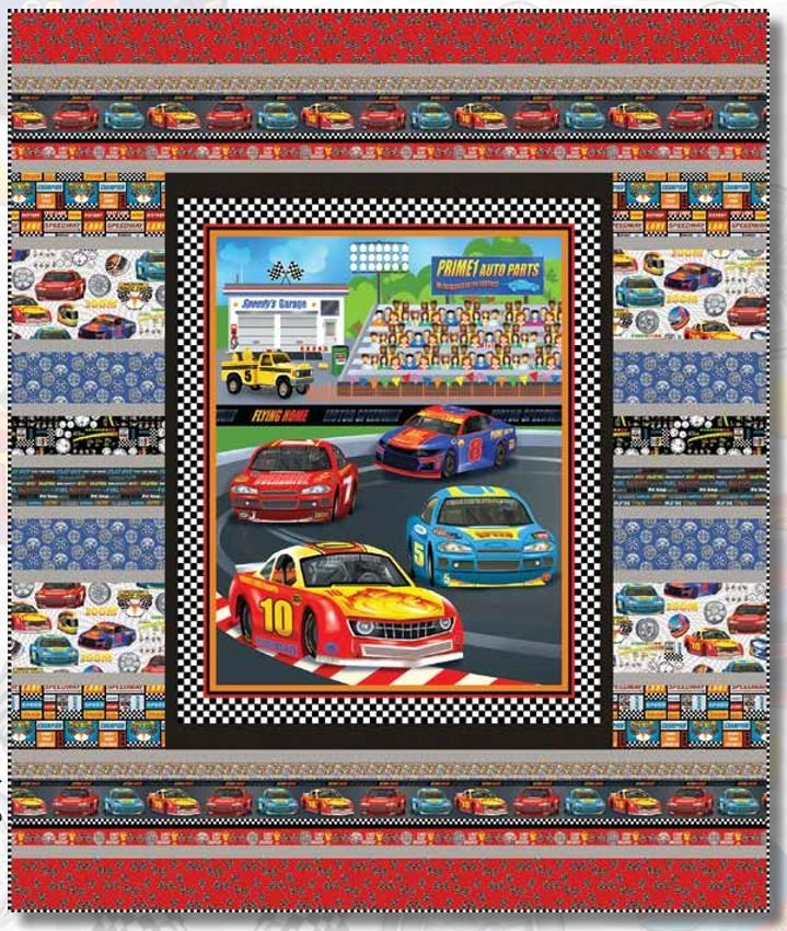 Start Your Engines Quilt Kit