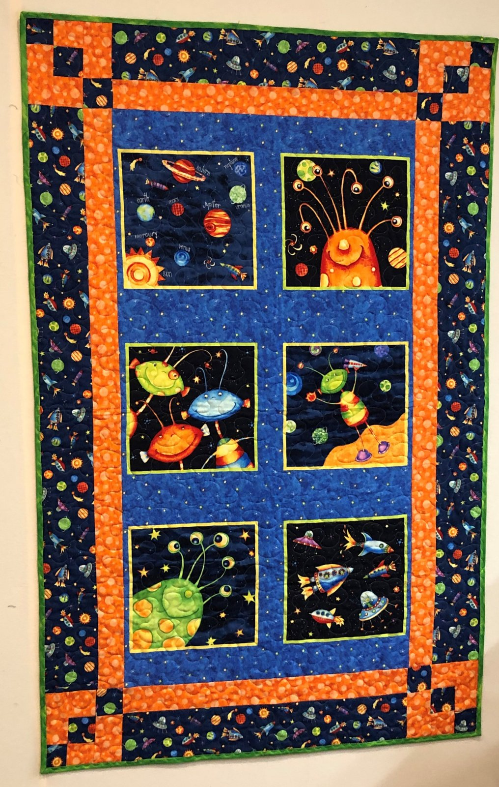 Super Spacey Quilt Kit 34 x 54 P&B Textiles