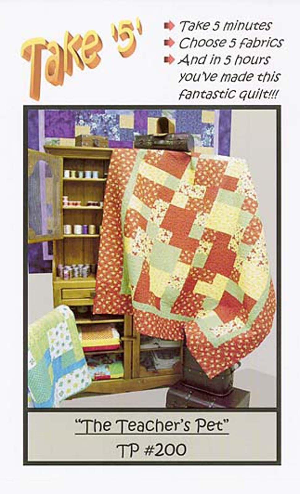 Cream Take 5 Bookshelf Botanical Quilt Kit