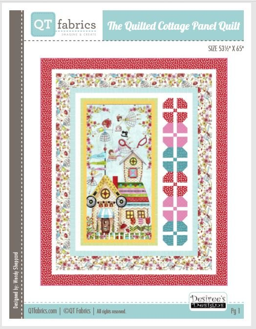 The Quilted Cottage Panel Quilt 53 X 65 by Desiree's Designs