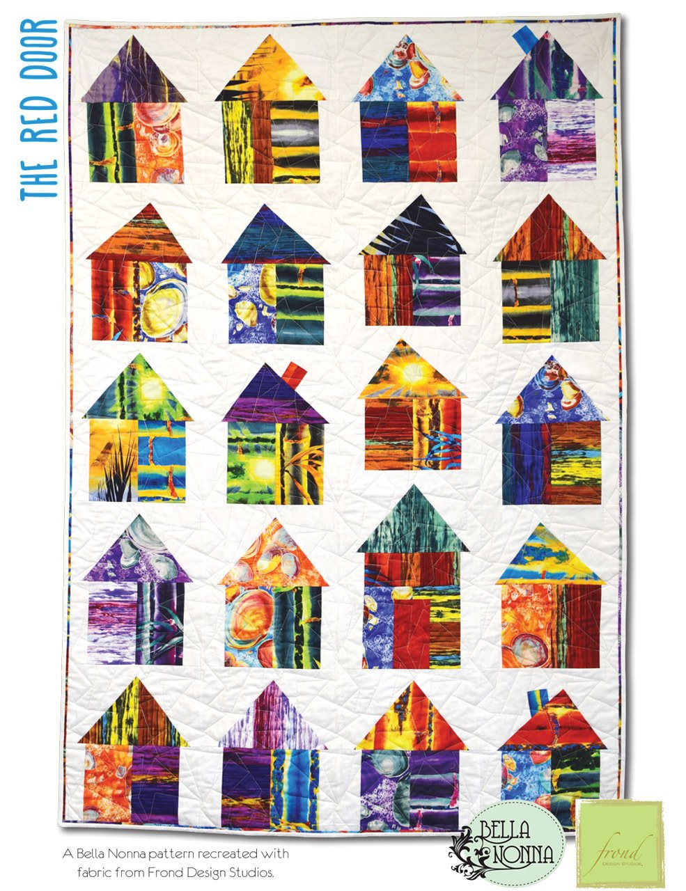 The Red Door Quilt Kit 47 x 69 by Frond Design Studios