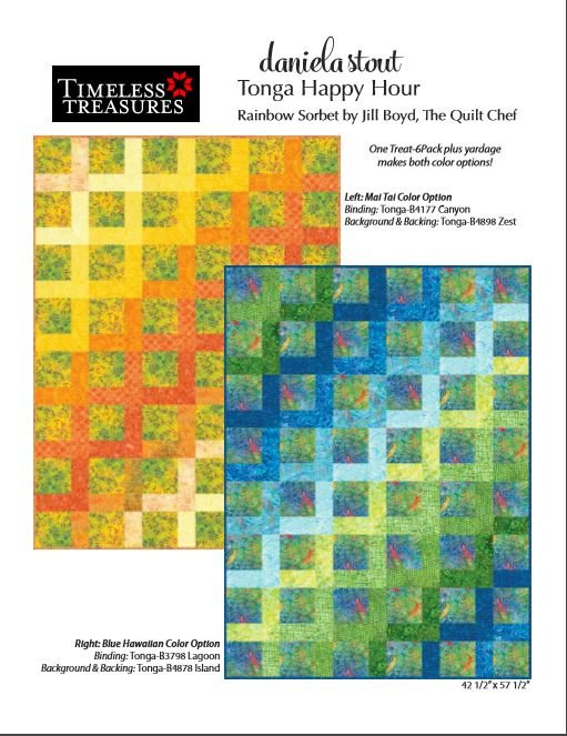 Tonga Happy Hour Quilt Kit by Daniela Stout