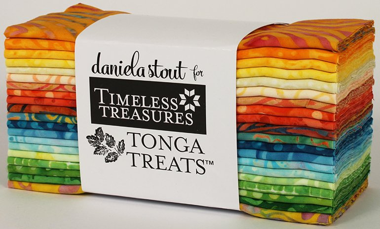 Treat-6Pack-HappyHour 6 inch Batik Strips_20 skus by Daniela Stout