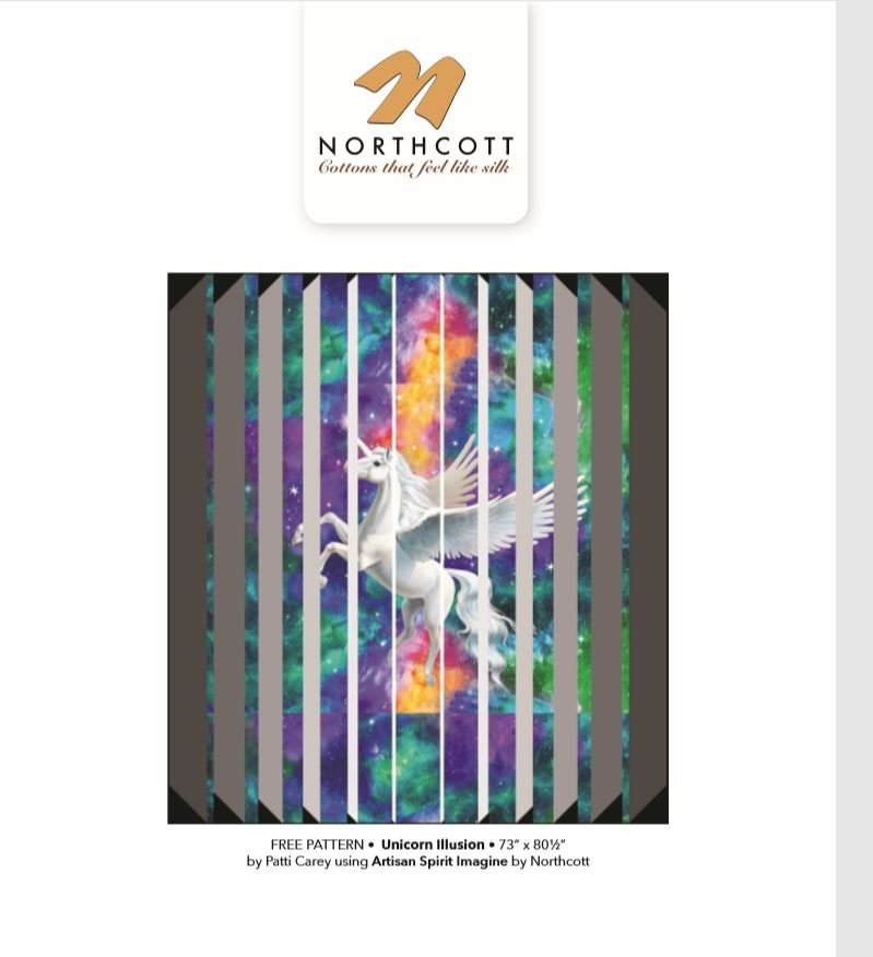 Unicorn Illusion Quilt Kit by Patti Carey Northcott