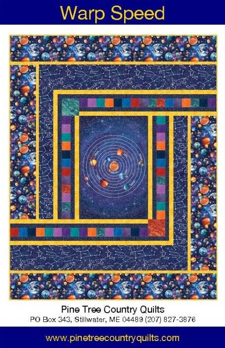 PTN 2173 In and Out Space Pattern 72 X 92 inch Quilt