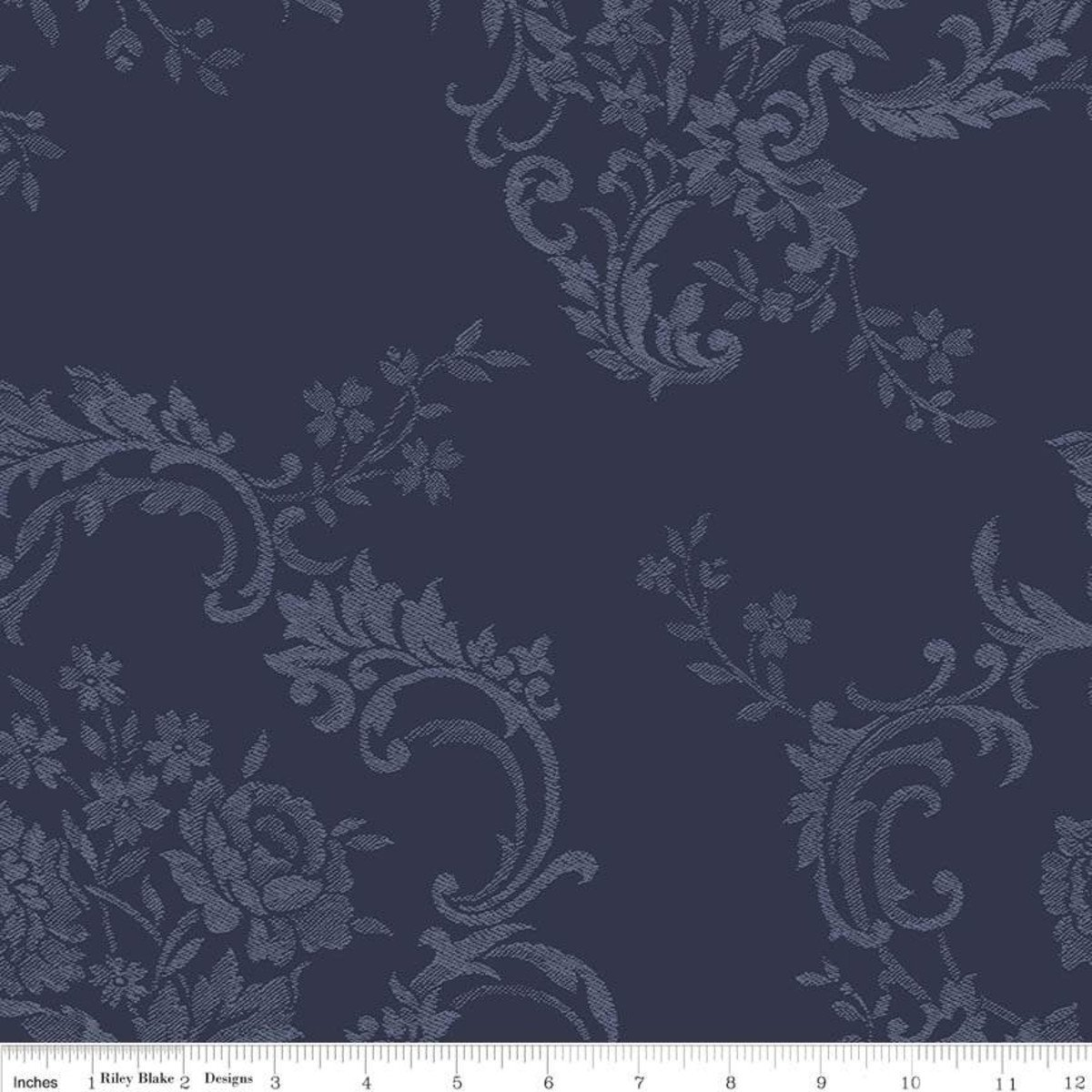 WB8148-NAVY_Damask Wide Backing Majestic