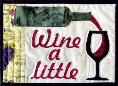 Wine a Little Mug Rug Laser cut Kit